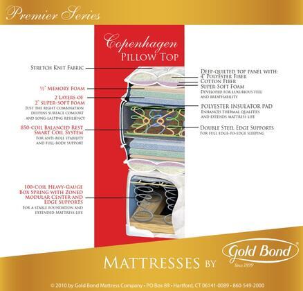 Gold Bond 518COPENHAGENQ Premiere Series Queen Size Pillow Top Mattress