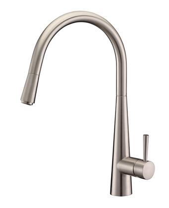 Ruvati RVF1221X Cascada Pullout Spray Kitchen Faucet in Stainless Steel Finish