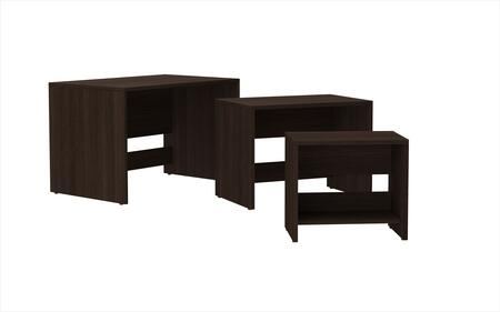 Accentuations 12AMC Accentuations by Manhattan Comfort Refined 3 - Saffle Nested Side Table 2.0 with 1 Shelf