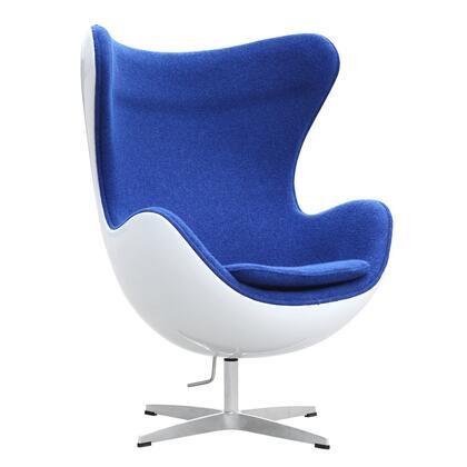Fine Mod Imports FMI9011BLUE Fiesta Series Club Wood Fiberglass Frame Accent Chair