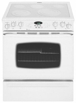 Maytag MES5775BAF  Slide-in Electric Range with Smoothtop Cooktop, 4.5 cu. ft. Primary Oven Capacity, Storage in Frost White