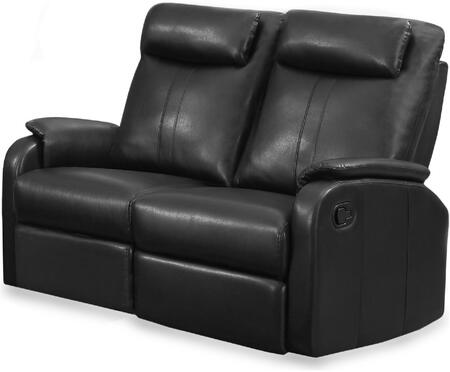 "Monarch I 81XX-2 50"" Reclining Love Seat with Lumbar Support, Comfortably Padded and Bonded Leather"