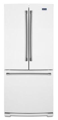 """Maytag MFF2055DRH 30""""  French Door Refrigerator with 19.7 cu. ft. Capacity in White"""