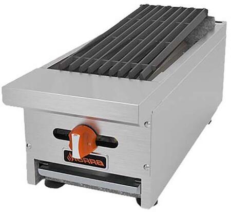 """Sierra SRRBx """" Radiant Broiler with Burners, BTU per Burner, Total BTU, in Stainless Steel"""