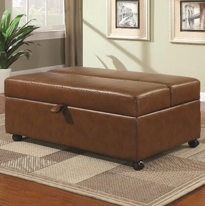 Coaster 500874 Ottomans Series Casual Leather Ottoman