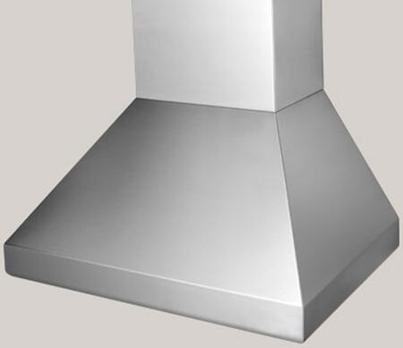 "BlueStar Hampton BSHAMPI54 54"" Island Range Hood with 3 Speed Fan, Stainless Steel Baffle Filters and Halogen Lamps, in"