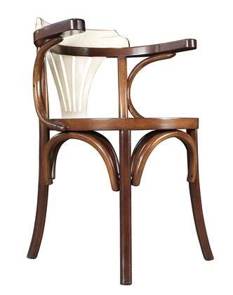 """Authentic Models MF046X Navy Chair, 23.6"""" with Cherry & Plywood Material"""