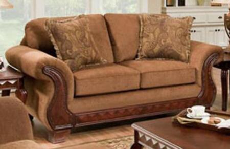 Chelsea Home Furniture 186902-X Jefferson Loveseat, Medium Cushion Firmness, and Fabric Upholstery