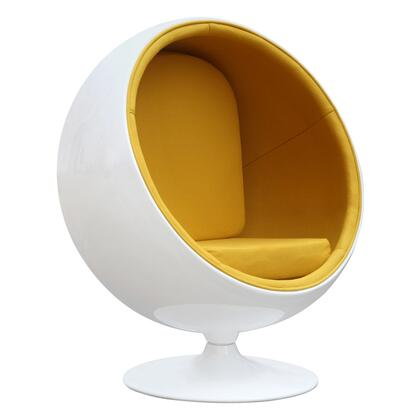 Fine Mod Imports FMI1150YELLOW Ball Series Lounge/Armchair Fabric: 100% Wool Fiberglass Frame Accent Chair