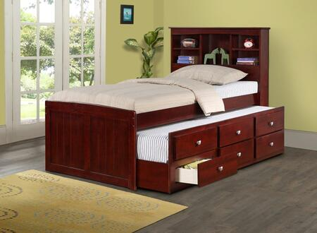 Donco 250TCP  Twin Size Captains Bed