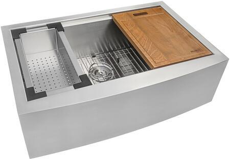 "Ruvati RVH9100X Apron Front Stainless Steel 30"" Kitchen Sink Single Bowl"