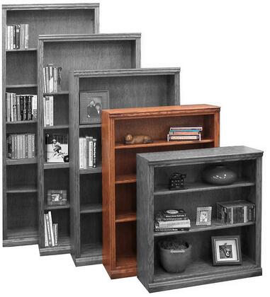 Legends Furniture TT6648GDOTraditional Series Wood 3 Shelves Bookcase