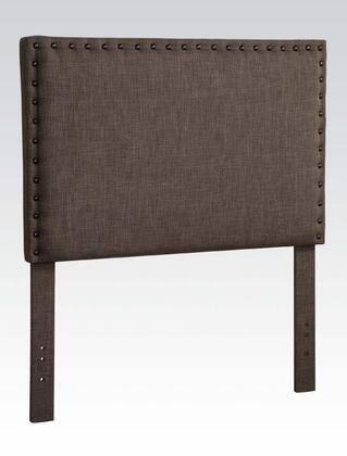 Acme Furniture 3911BR Sabina Size Headboard with Fabric Upholstery, Nailhead Accents, Pine Wood and Plywood Frame in Brown Linen