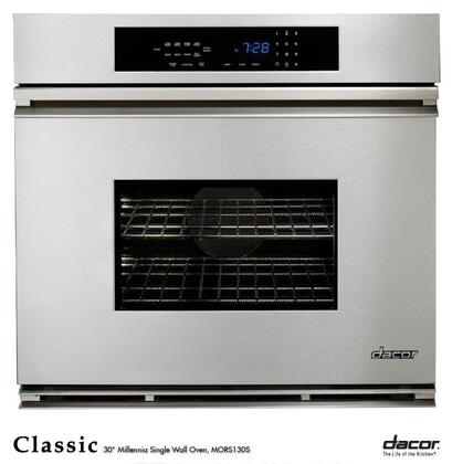 """Dacor Classic MORS127 27"""" Single Electric Wall Oven 3.4 cu. ft. Pure Convection Oven, Self-Cleaning, 6 Cooking Modes, Bake Element, Meat Probe, Proofing and Electronic Touch Controls: Stainless Steel"""