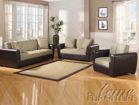 Acme Furniture 57022 Dana Point Series Sofa w/Storage PU Espresso Sofa