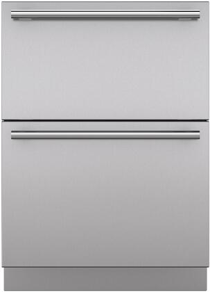 "Sub-Zero 7006XX Set of 2 Drawer Panels with X Handles and X"" Toe Kick, in Stainless Steel"