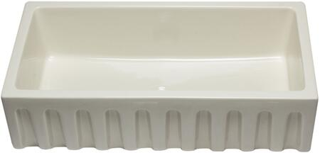 "Alfi AB3618HS 36"" Smooth Apron Single Bowl Farm Sink with Fireclay in"
