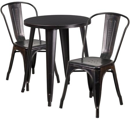 Flash Furniture CH51080TH218CAFEBQGG Round Shape Patio Sets
