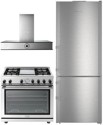 Liebherr 848778 3 piece Stainless Steel Kitchen Appliances Package