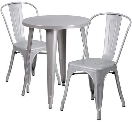 Flash Furniture CH51080TH218CAFESILGG Round Shape Patio Sets
