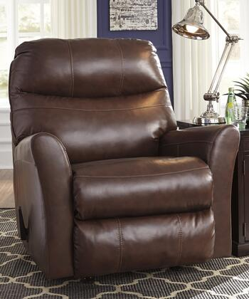 Signature Design by Ashley 2950125 Pranav Series Contemporary Leather Metal Frame Rocking Recliners