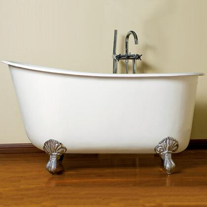 "Cambridge SWED58NH Cast Iron Swedish Slipper Tub 58"" x 30"" with No Faucet Drillings"