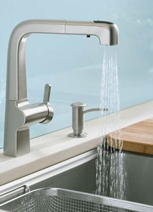 Kohler K-6331- Single Handle Pullout Spray Kitchen Faucet from the Evoke Collection: