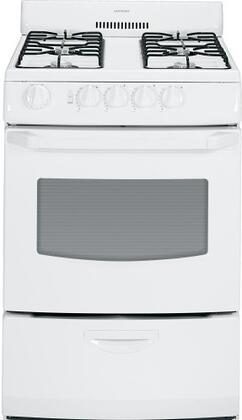 "Hotpoint RGA824DEDWW 24"" Gas Freestanding Range with Sealed Burner Cooktop, 3 cu. ft. Primary Oven Capacity, Broiler in White"