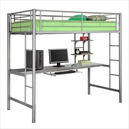 Walker Edison BTOZSL Sunrise Series  Twin Size Loft Bed
