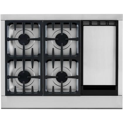 DCS CPU364GDL Professional Series Gas Sealed Burner Style Cooktop