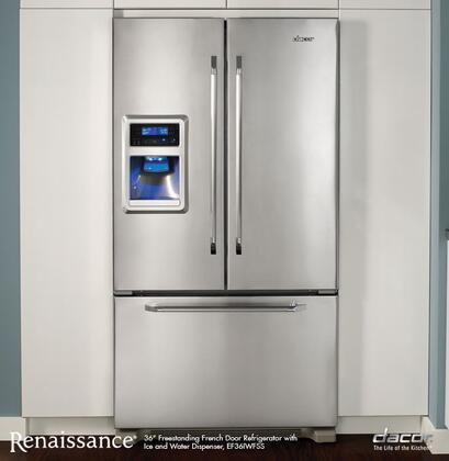 Dacor EF36IWFSS Renaissance Series Counter Depth French Door Refrigerator with 19.9 cu. ft. Capacity in Stainless Steel