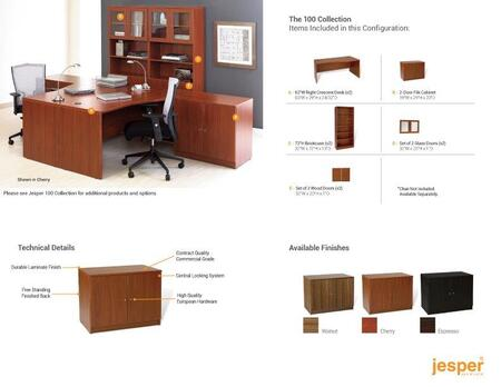 Unique Furniture 1C100020DDXX Double Workstation w/ Bookcases