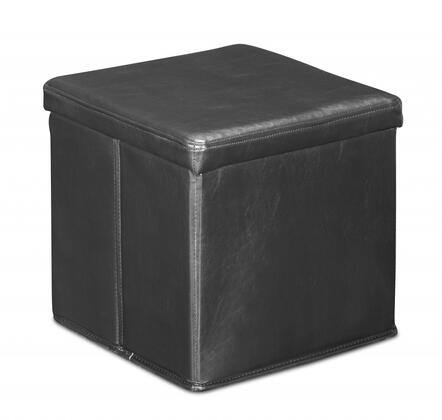 Zuo 103601 Skammel Series Contemporary Faux Leather Ottoman