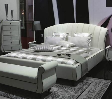 VIG Furniture AUSPICIOUSBEDCK Auspicious Series  California King Size Platform Bed