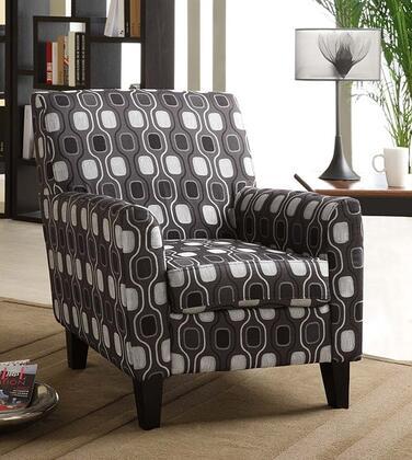 Armen Living LC2010FAGRAY Armchair Fabric Wood Frame Accent Chair