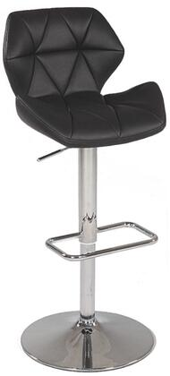 Chintaly 0645ASBLK Residential Bonded Leather Upholstered Bar Stool
