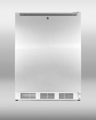 "Summit VT65MLSSHHADA24"" Freestanding Upright Counter Depth Freezer"