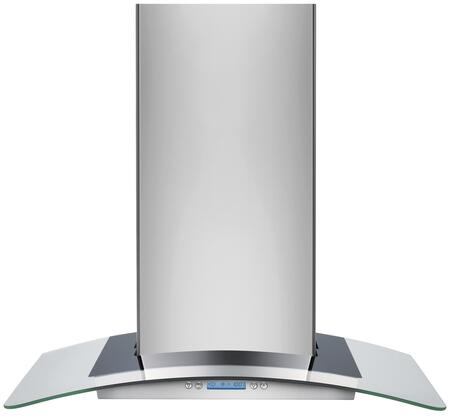 Electrolux RH3XWC60GS Wall Mount Chimney Hood with 600 CFM Internal Blower, 4 Speed Electronic Control, 2 Halogen Lights, Convenient Timer, LCD Electronic Controls and Glass Canopy in Stainless Steel
