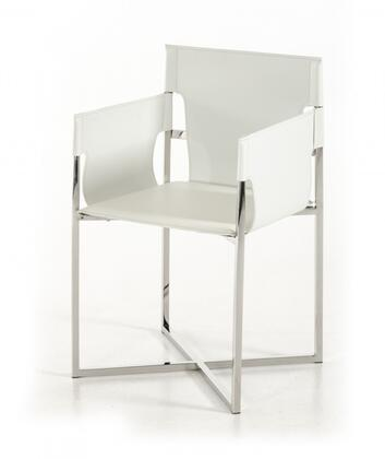 "VIG Furniture Modrest Jones Collection 21"" Dining Chair with Stainless Steel Frame and Eco-Leather Upholstery in Color"