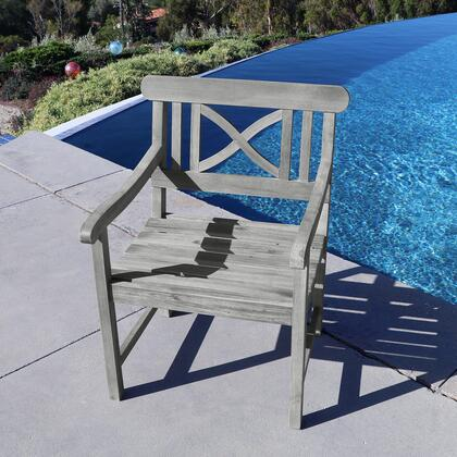 Vifah V1298  Wood Frame  Patio Arm Chair