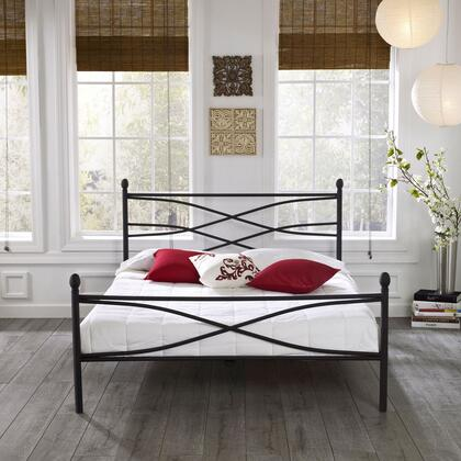Rest Rite Milan MFP01553xx X Size Platform Bed with Metal Frame and Modern Style in Black