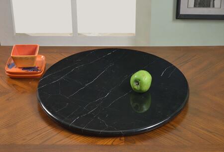 "Chintaly LAZYSUSAN24MBL 24"" Round Ancient Marble/Aluminum Rotating Tray"