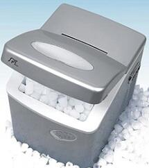 Sunpentown IM100  Freestanding Ice Maker with 35 lb. Daily Ice Production, 2.5 lb. Ice Storage, in Platinum
