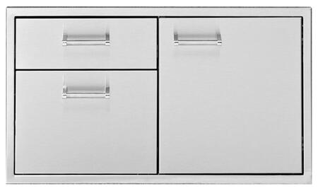 Delta Heat DHDD Built-In Door with Drawers, 304 Stainless Steel Construction, and One-piece 18 Gauge Frame, in Stainless Steel