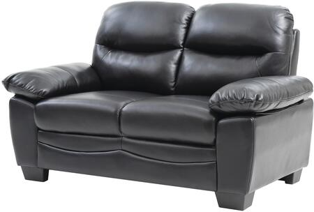 "Glory Furniture 59"" Loveseat with Removable Backs, Split Back Cushion, Pocket Coil Spring Seating, Tapered Legs, Plush Padded Arms and Soft Faux Leather Upholstery in"