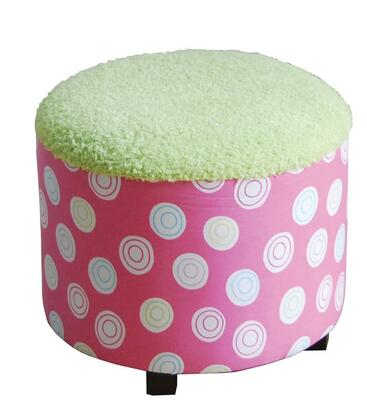 Acme Furniture 59042 Candy Series Contemporary Fabric Wood Frame Ottoman