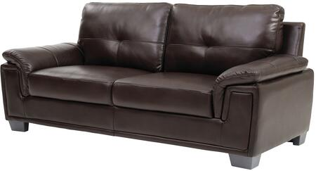 """Glory Furniture 83"""" Sofa with Padded Arms, Tufted Cushions, Tapered Legs and Glove Soft Top Grade """"Air"""" Faux Leather Upholstery in"""