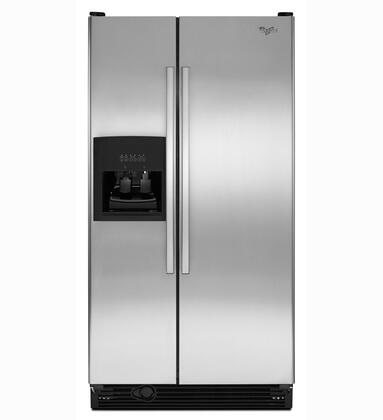 Whirlpool ED5FHEXVS  Side by Side Refrigerator with 25.1 cu. ft. Capacity in Stainless Steel