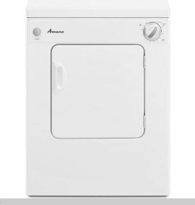 Amana NEC3 Sensor Dry Compact Dryer, 3.4 cu. ft. Capacity, White Exterior Finish with Automatic Dryness Control, [240] Volts