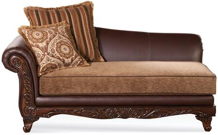 Acme Furniture 52367 Fairfax Series Contemporary Bonded Leather Wood Frame Chaise Lounge